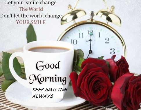 Good Morning Keep Smiling Always Images with Quotes for Lover