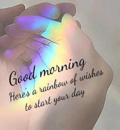 Good Morning Wishes Rainbow Images for Friends on Facebook