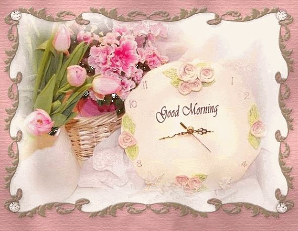 Wake Up Good Morning Images with Flowers