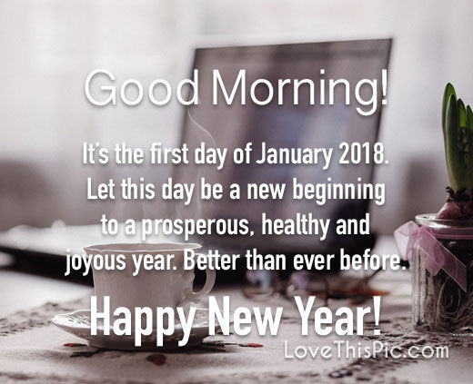 First Day Of January 2018 Happy New Year Quotes Images Wishes