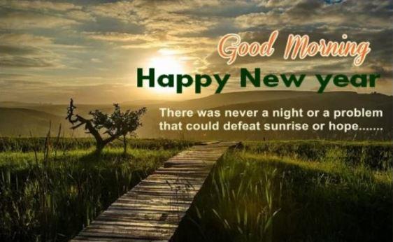 Good Morning Happy New Year Nature Sunshine