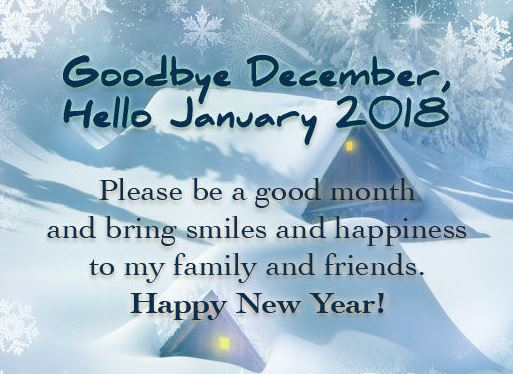 Goodbye December Hello January 2018 Image Picture