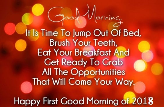 Happy First Morning of 2018 Good Morning Image