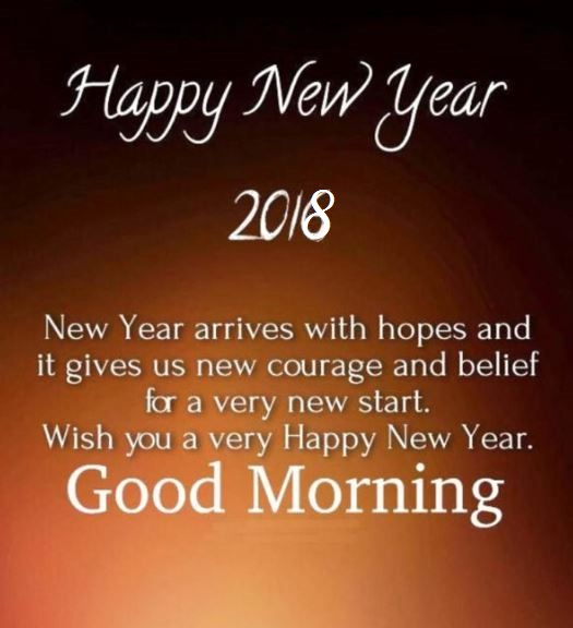 Happy New Year 2018 Good Morning Quotes Wishes Images
