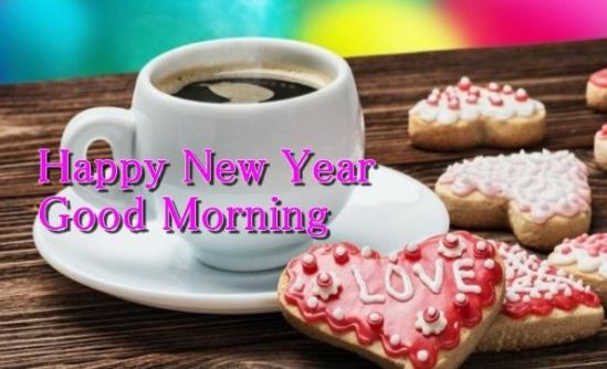 Happy New Year Good Morning Coffee Love Image