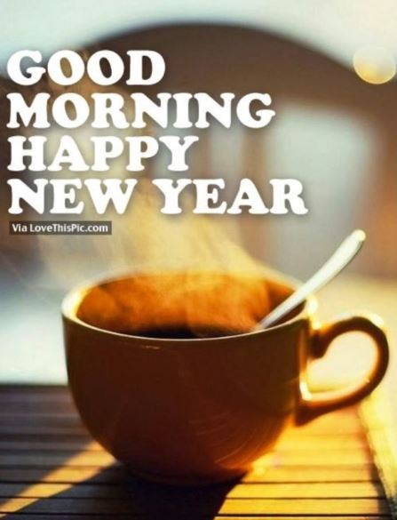 Happy New Year Good Morning Coffee Quotes Image