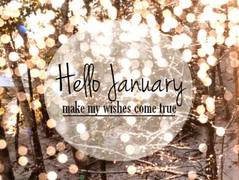 Hello January Make My Wishes Come True Quotes Image