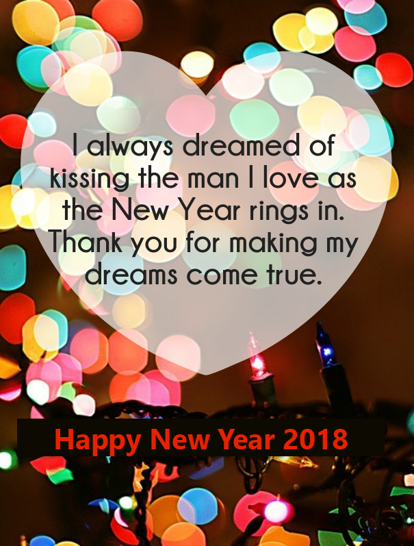 Romantic Happy New Year Quotes 2018
