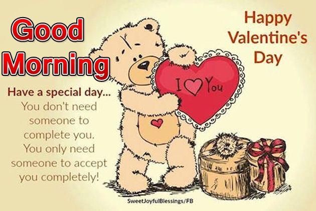I Love You Good Morning Happy Valentine's Day