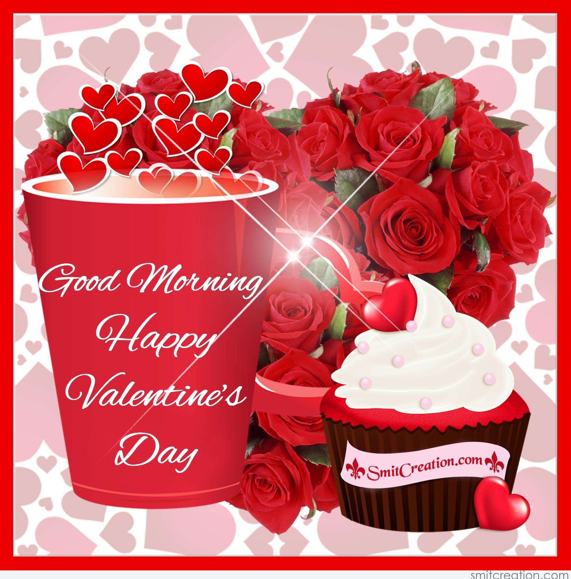 Good Morning Happy Valentines Day Flowers Cup Image-4