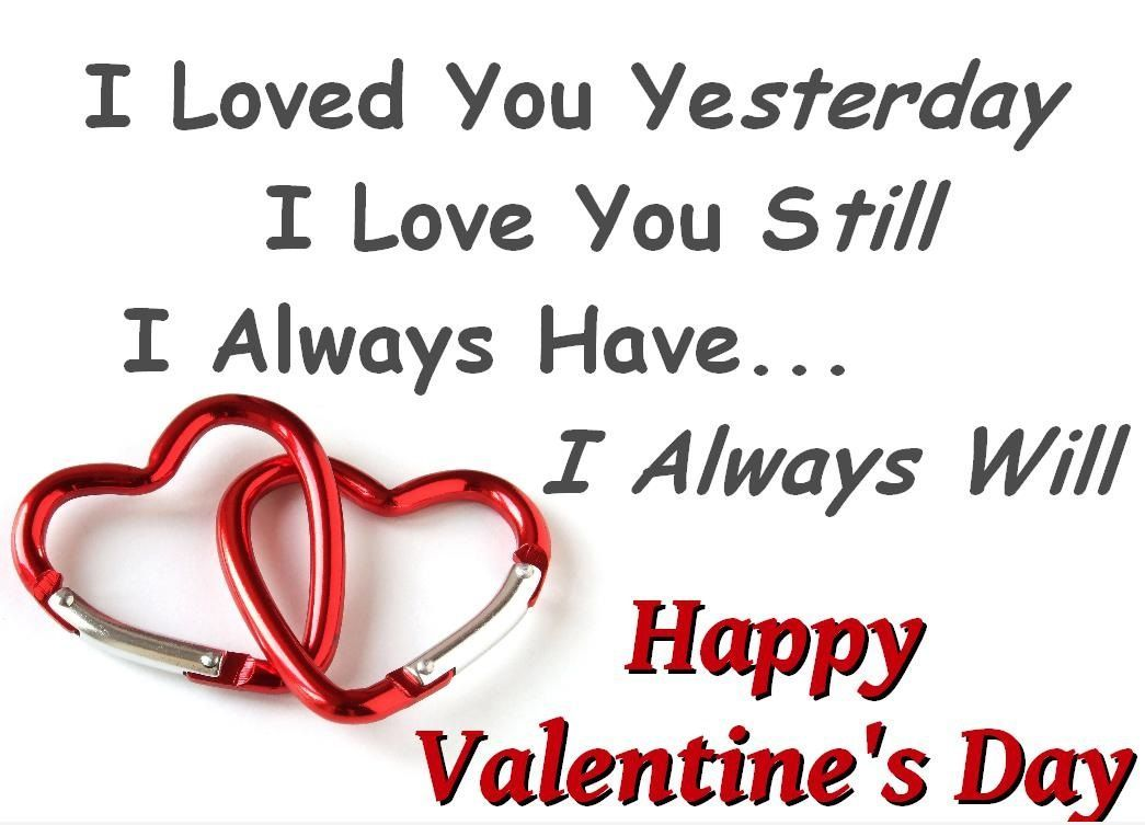 Love Yesterday, Today, Forever, Happy Valentine's Day Image Messages