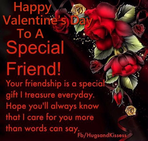 Happy Valentine's Day To A Special Friend Quote SMS