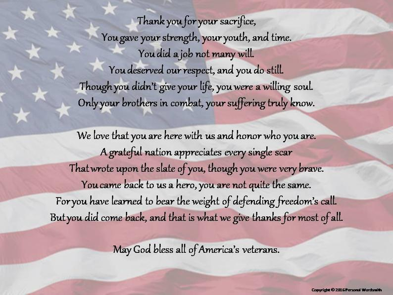 Best Memorial Day Poems Thank You for your Sacrifice - May God Bless America's Veterans
