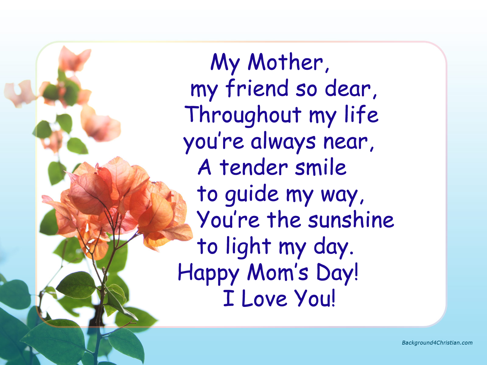 Best Mothers Day Quotes I Love You Mom Image