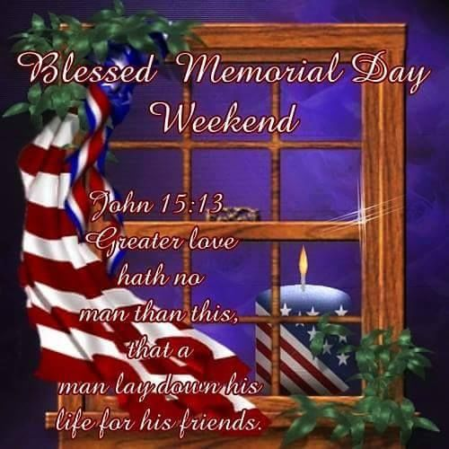 Blessed Memorial Day Weekend Images with Blessings Christian Religious Quotes