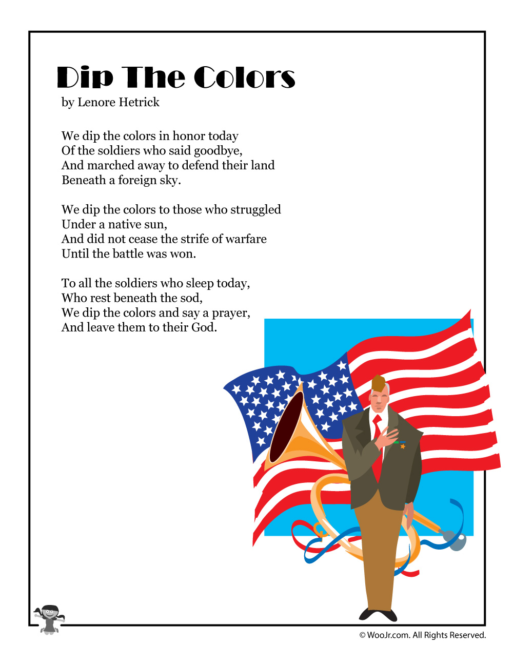 Dip the Color Famous Poems Memorial Day Image