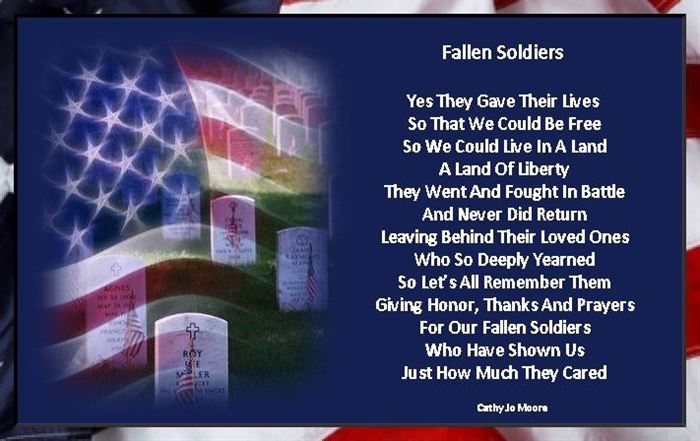Fallen Soldiers Poem Memorial Day for Kids & Adults