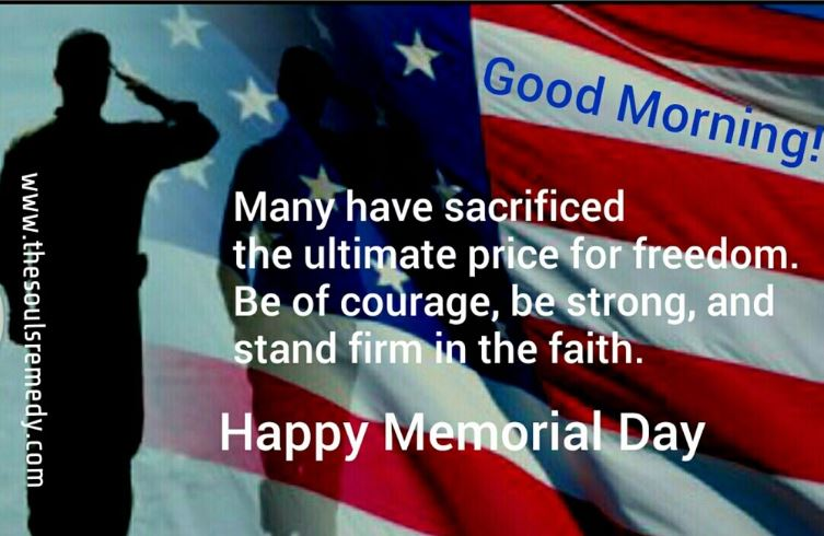 Good Morning Happy Memorial Day Images with Quotes