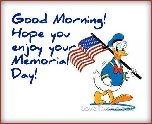 Good Morning Hope you enjoy your Memorial Day Pic