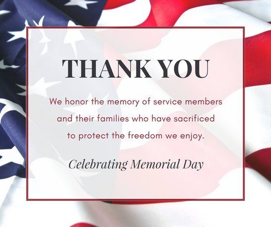 Celebrating Memorial Day - Happy Memorial Day Thank You Quotes