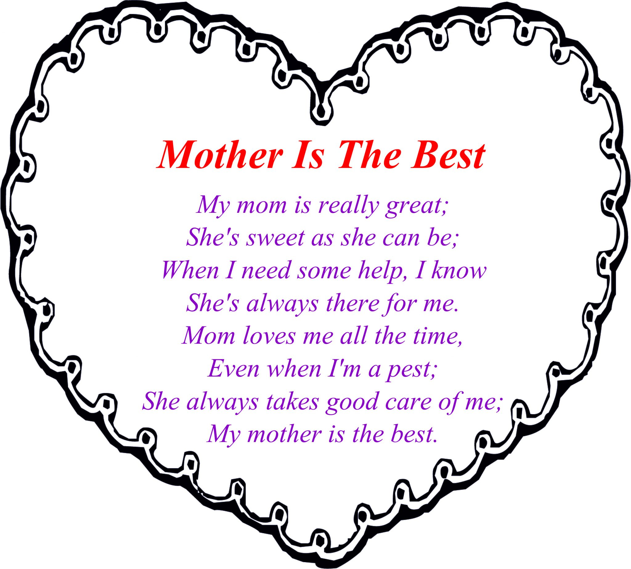 Happy Mothers Day Poems from Kids Daughter