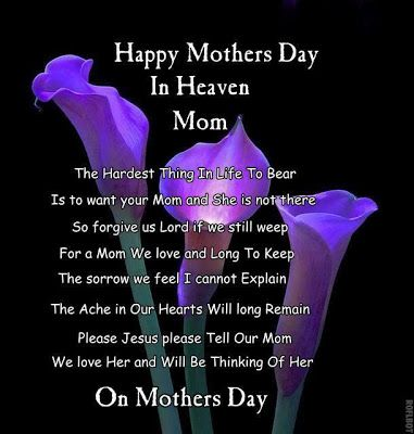 Happy Mothers Day in Heaven Mom Miss You Images