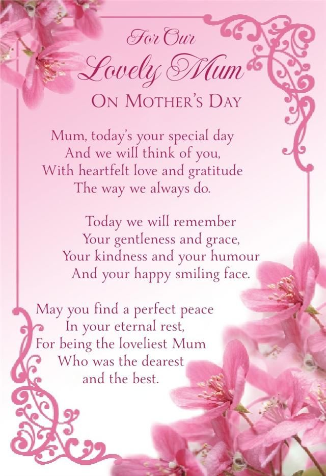 Heaven Mothers Day Poems from Son Daughter That Make You Cry