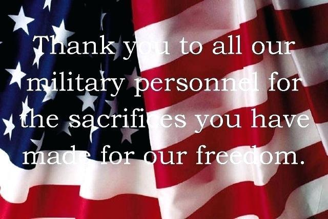 Inspirational Military Quotes - Thank you for you sacrifices