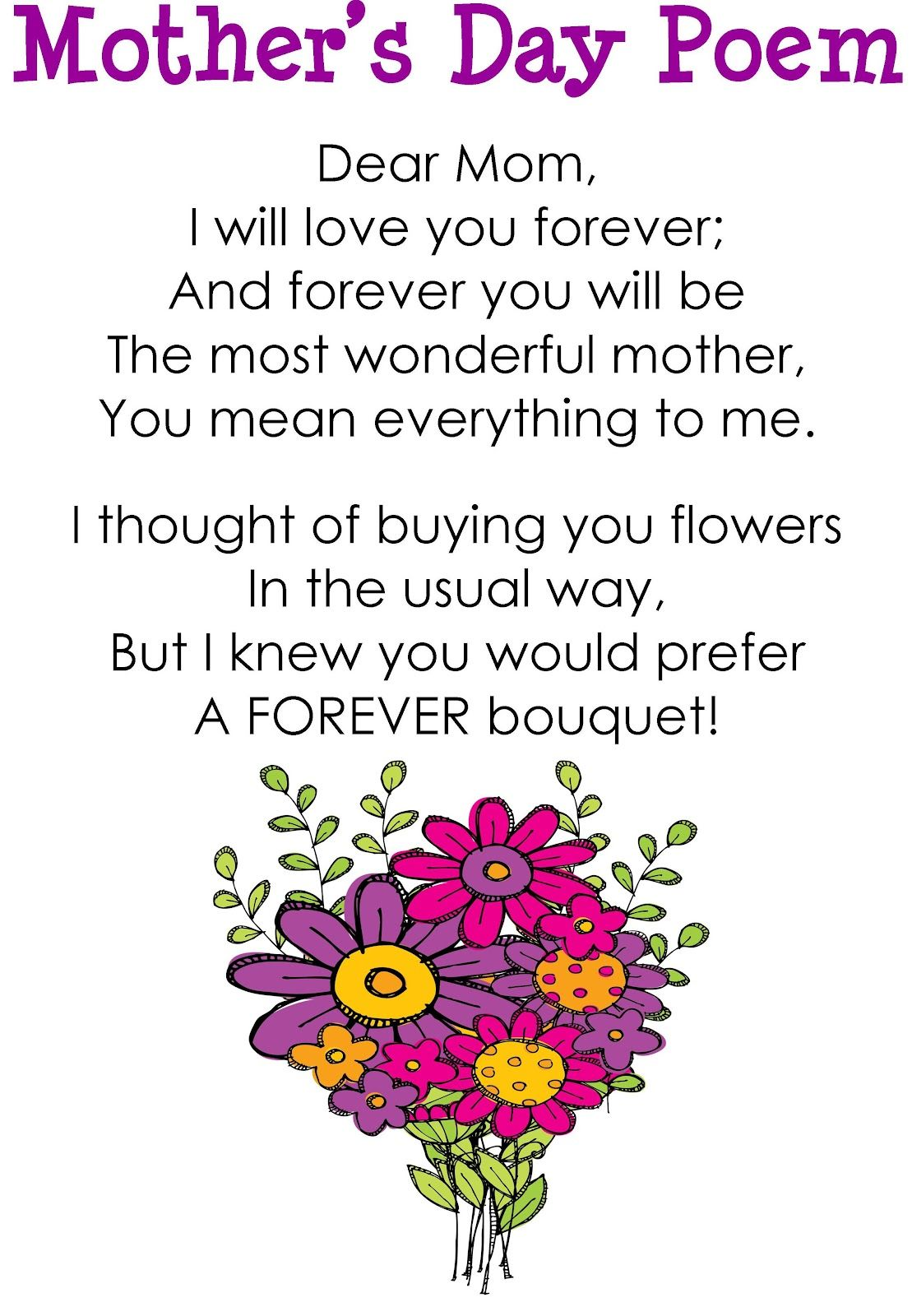 Mothers Day Poem Picture Image