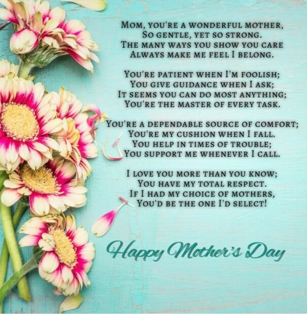 Mothers Day Poems for Kids with Messages