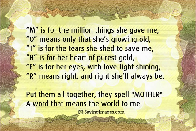 Mothers Day Quotes from Son Picture Image