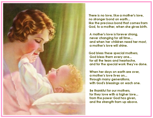 Mothers Day Wishes Messages and God's Blessings