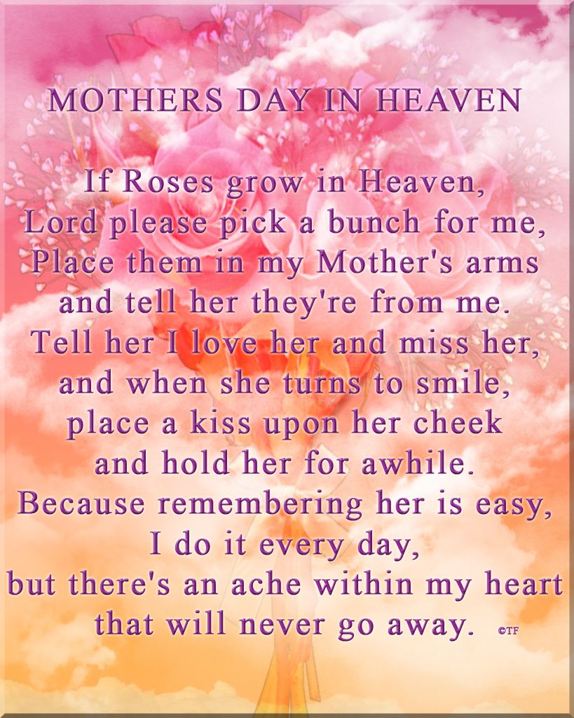 Mothers Day in Heaven Image