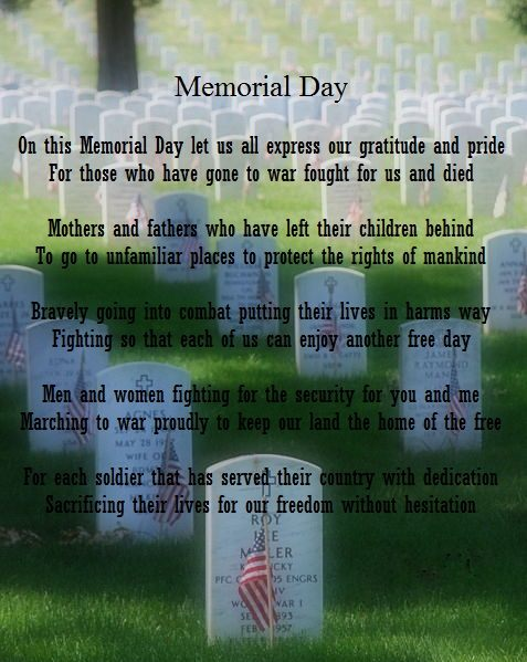 Remember and Honor the Fallen Poems Memorial Day