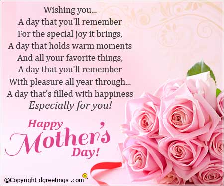 Short Poems for Mother's Day