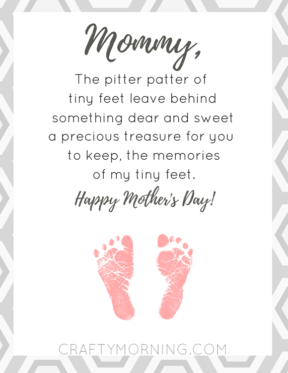 Short Printable Mothers Day Poems for Preschool - Preschoolers