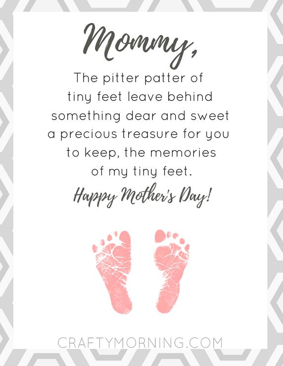 Short Printable Mothers Day Poems for Preschool - Preschoolers