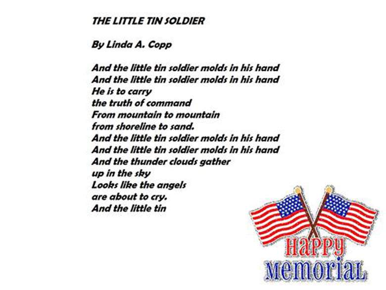 The Little Tin Soldier Poem Memorial Day Pics