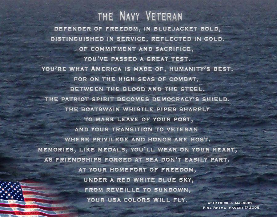 The Navy Veteran Poem Prayer Memorial Day