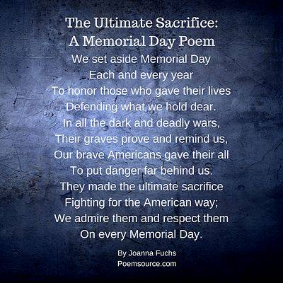 The Ultimate Sacrifice A Memorial Day Poem