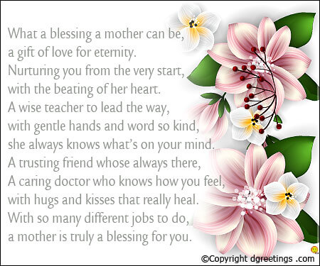 Poem Cards Mothers Day Poems