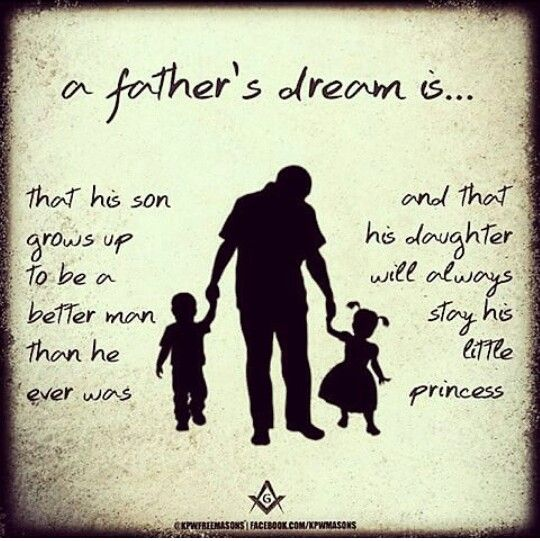 A Fathers Dream Quote Picture