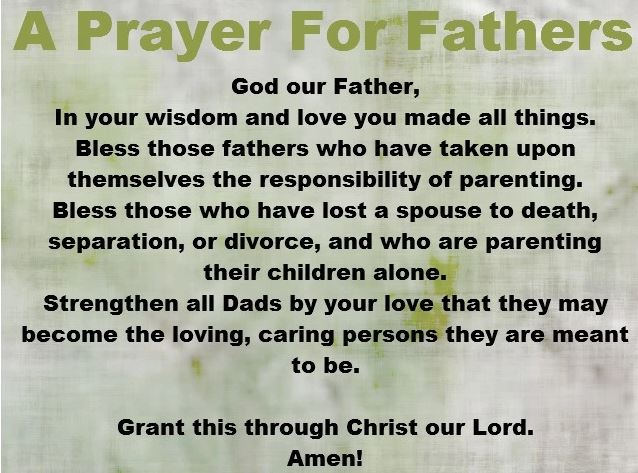 A Prayer for Fathers