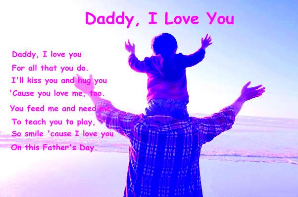 Daddy I Love You Quotes on Fathers Day Images