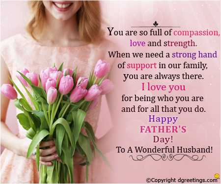 Happy Fathers Day Husband Quotes from Wife Images