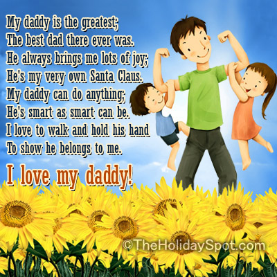 I Love My Daddy Fathers Day Quotes from Daughter & Son