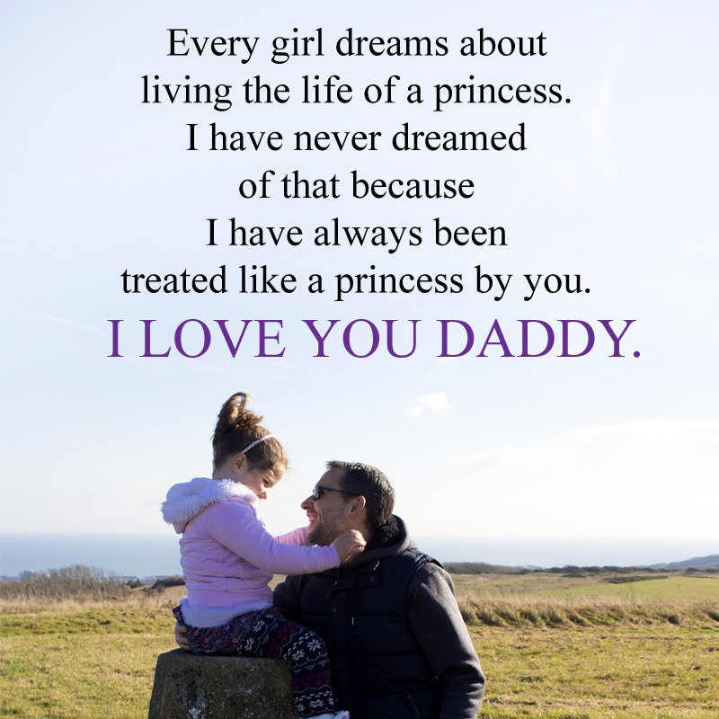 I Love You Daddy Father Daughter Quotes Image
