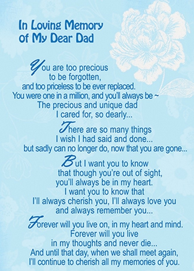 In Loving Memory of My Dear Dad Fathers Day in Heaven Quotes Sayings