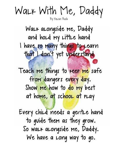 Walk With Me Daddy Fathers Day Poems Image