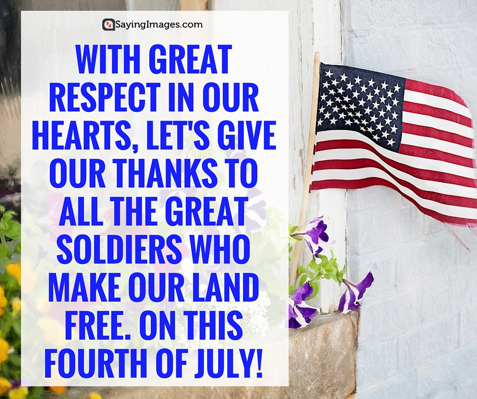 Short and Great Fourth Of July Thank You Quotes and Sayings